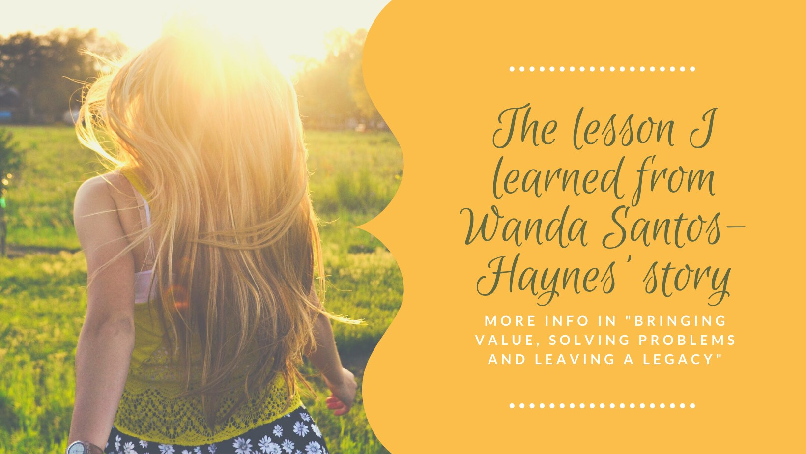 Bringing Value,Solving Problems and Leaving a Legacy Book